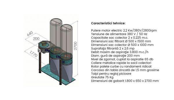 Exhaustor Rumegus 2 saci