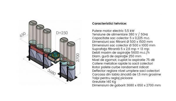 Exhaustor Rumegus 5 saci