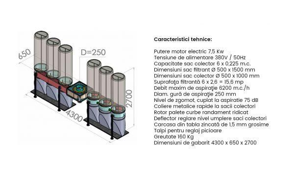 Exhaustor Rumegus 6 saci